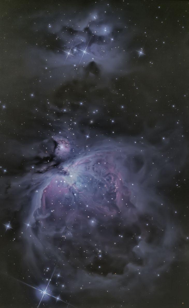 The Great Orion Nebula, NGC 1973, 1975 & 1977  Taken by Jeff Adkins Sr, Jr & Terry Lutz on December 1, 2013 @ Willard, Ohio