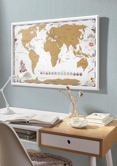 Weltkarte zum Rubbeln - ideal für alle Globetrotter