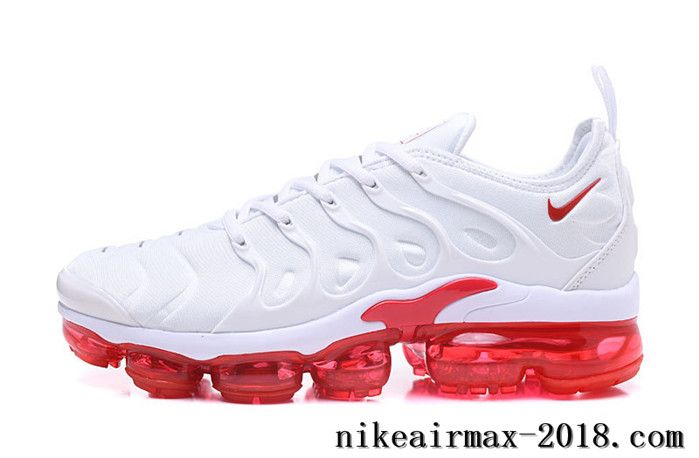 Nike Air Vapormax Plus Mens Running Shoes White Red  18172dac8