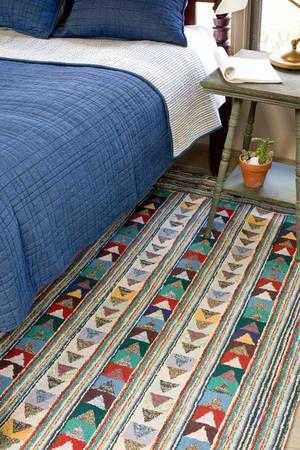 interesting scrappy rug