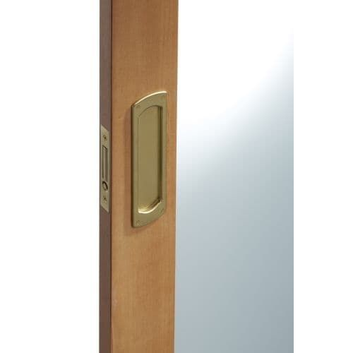 Baldwin PD007.Pass Palo Alto Passage Pocket Door Set with Door Pull from the Estate Collection (Satin Chrome)