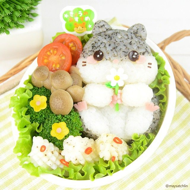 My hamster Bobby  Inspiration from this hamster plush by Amuse  #bento #obento #char... | Use Instagram online! Websta is the Best Instagram Web Viewer!