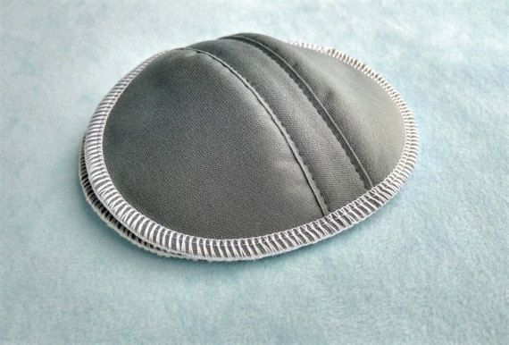 Contoured Nursing Pads  Grey PUL and Organic by SwaddleinCloth