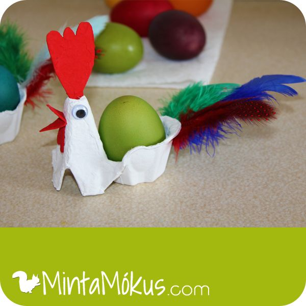 Egg carton craft! Perfect for Easter #kidscraft #upcycle #eastereggs