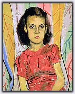 Alfred Pellan - Fillette en rouge, 1941.