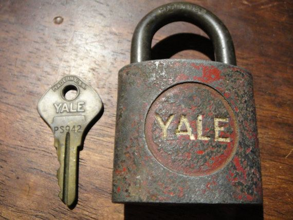 Yale Lock Antique Lock With Key Padlock Lock For Mail Boxes, Dog Collar, Cash Boxes, Bags, Purses, Luggage, Suitcase