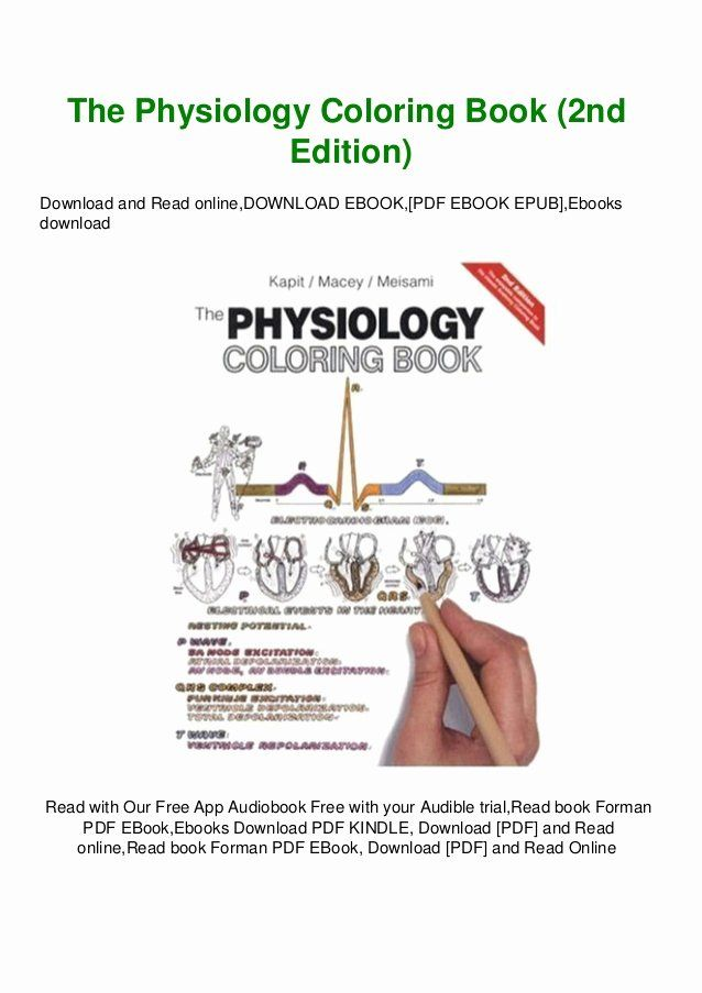 The Physiology Coloring Book Lovely The Physiology Coloring Book Wynn Kapit Pdf By Aslykocon Issuu Coloring Books Physiology Books