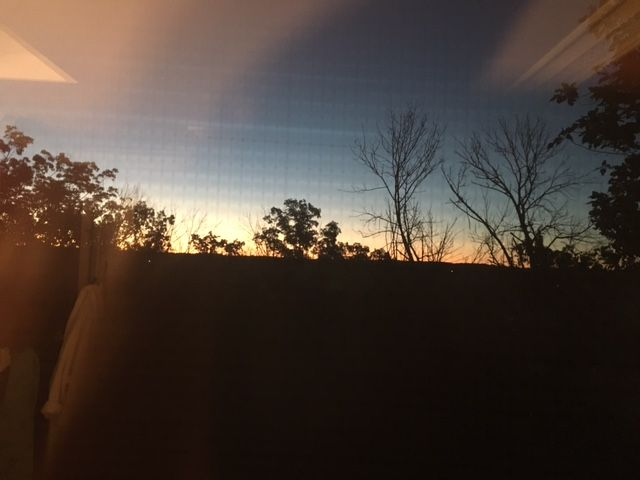 Sunrise from my window. I love the good sunrise. #sunrise