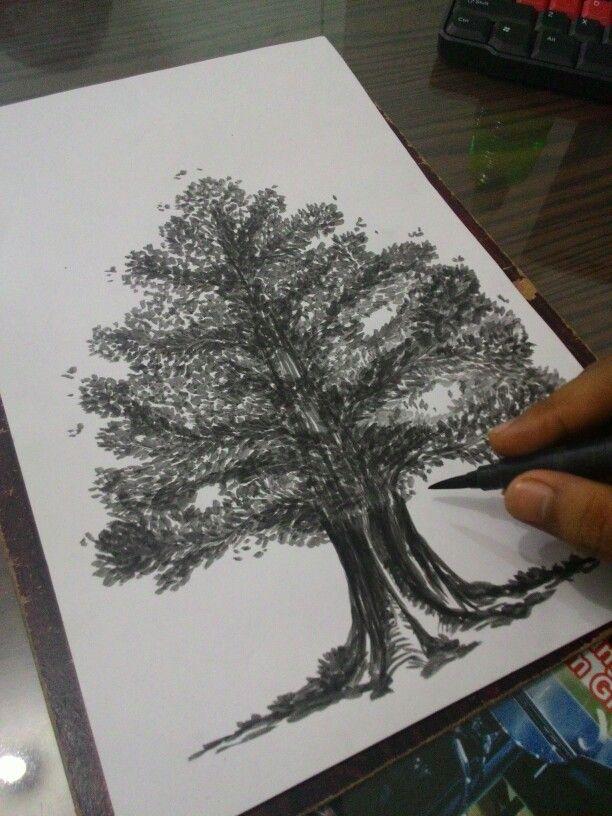tree #mural #tree #ink