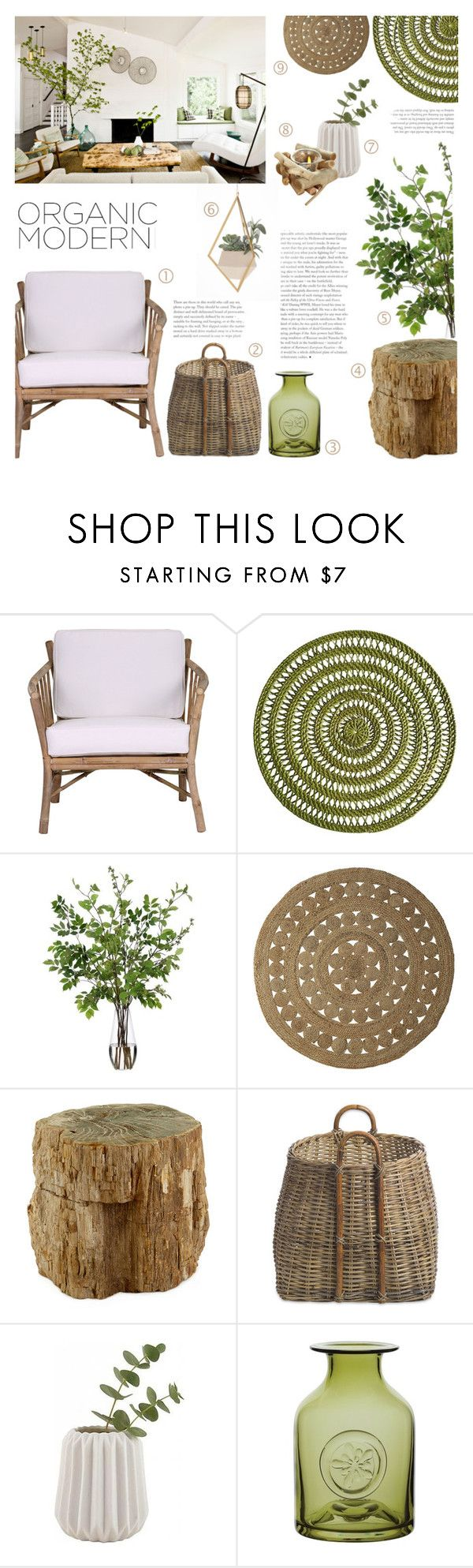 """Organic Modern"" by c-silla on Polyvore featuring interior, interiors, interior design, home, home decor, interior decorating, Dot & Bo, Pier 1 Imports, Diane James and Serena & Lily"