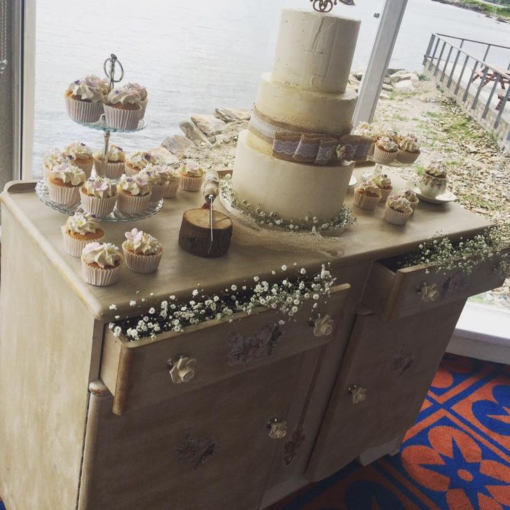 One of the Beautiful Wedding Cakes over the weekend by Claire the Baker.