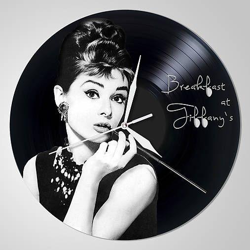 anynOOn / Audrey Hepburn- vinylové hodiny z LP