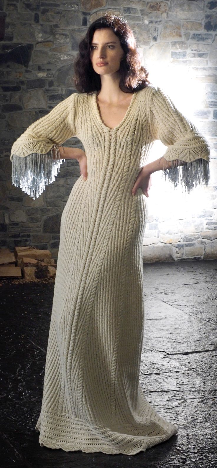 2017 Fantasy Aran Dress by Natallia Kulikouskaya for AranCrafts of Ireland, Barsbertown Castle... Photographed by Mike Bunn
