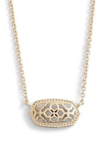 Women's Kendra Scott Elisa Openwork Pendant Necklace