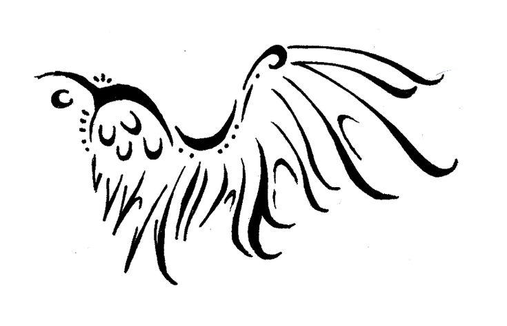Tribal Wing Tattoo by ~Werepuppy on deviantART