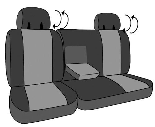 """CalTrend Middle Row 60/40 Split Bench Custom Fit Seat Cover for Select Dodge Durango Models - """"I Can't Believe It's Not Leather"""" (Charcoal) - https://musclecarheaven.net/?product=caltrend-middle-row-6040-split-bench-custom-fit-seat-cover-for-select-dodge-durango-models-i-cant-believe-its-not-leather-charcoal"""