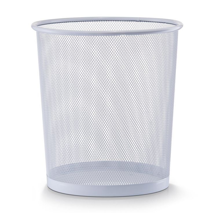 Zeller 17716 Corbeille à papier en grille métallique, blanc, 26 x 28 cm: Amazon.fr: Cuisine & Maison