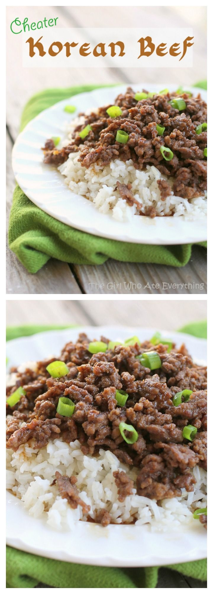 Cheater Korean Beef - a few shortcuts in this flavorful weeknight dinner. I cooked it in under 15 minutes. the-girl-who-ate-everything.com