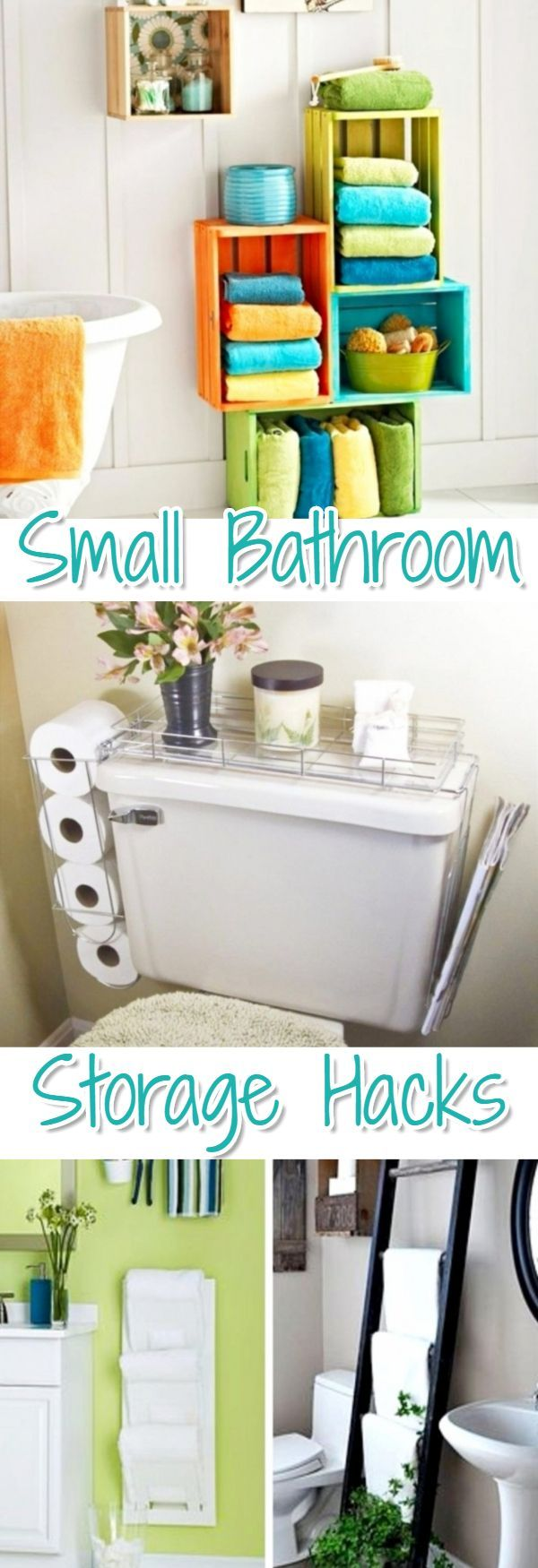 Small bathroom storage solutions - storage ideas for small bedrooms - great DIY ideas and hacks for all small spaces