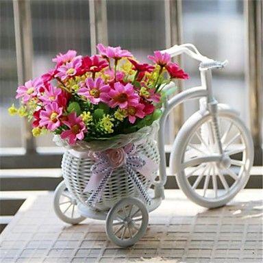 "8""H Modern Multicolor Daisies in White Basket Bike 2071742 2016 – $11.99"