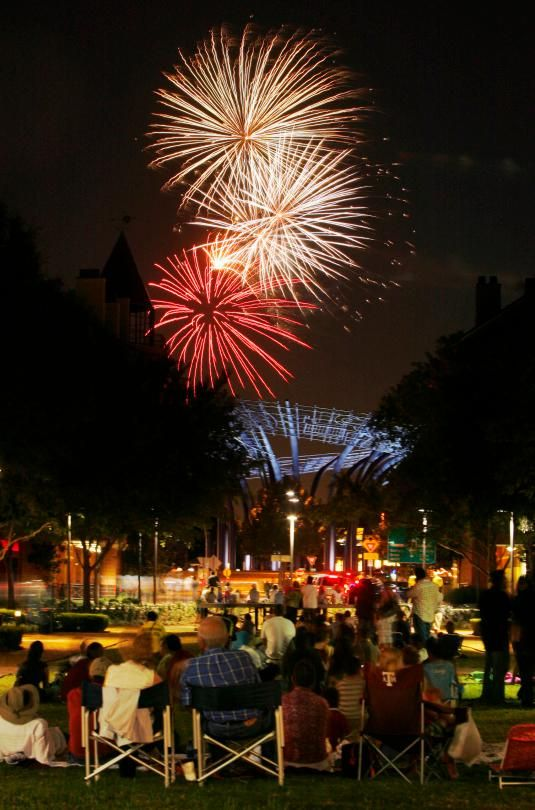 "Addison, TX is nicknamed ""Kaboom Town"" for a reason.  The town is known for having one of the best fireworks shows in the nation."