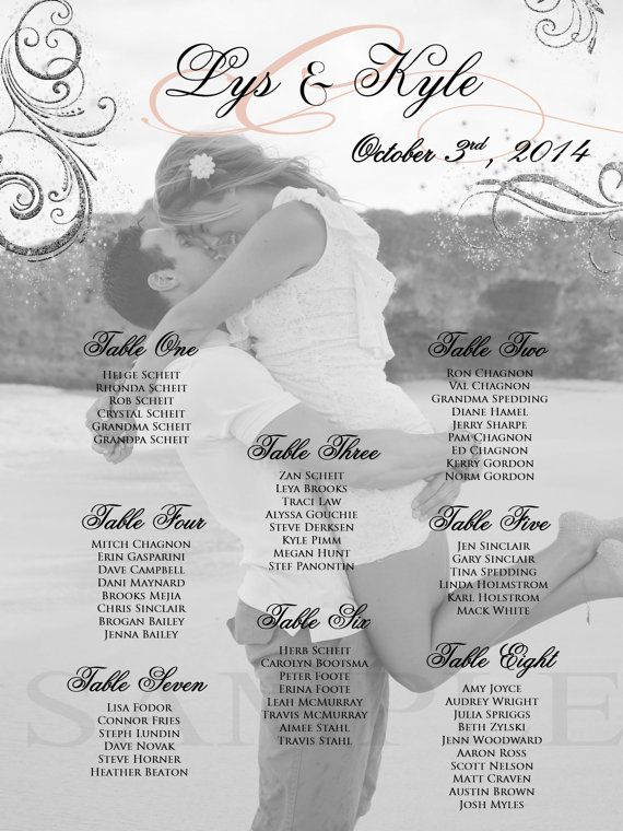 Wedding Seating Chart-Photo Seating by PleasebeSeatedDesign