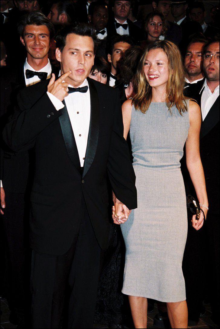 Pin for Later: Retour Sur les Meilleures Photos du Festival de Cannes Depuis Sa Création  Johnny Depp et Kate Moss, alors en couple, en 1997.