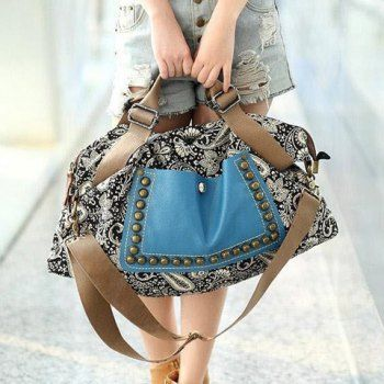 SHARE & Get it FREE | Retro Style Rivets and Splice Design Tote Bag For WomenFor Fashion Lovers only:80,000+ Items·FREE SHIPPING Join Dresslily: Get YOUR $50 NOW!