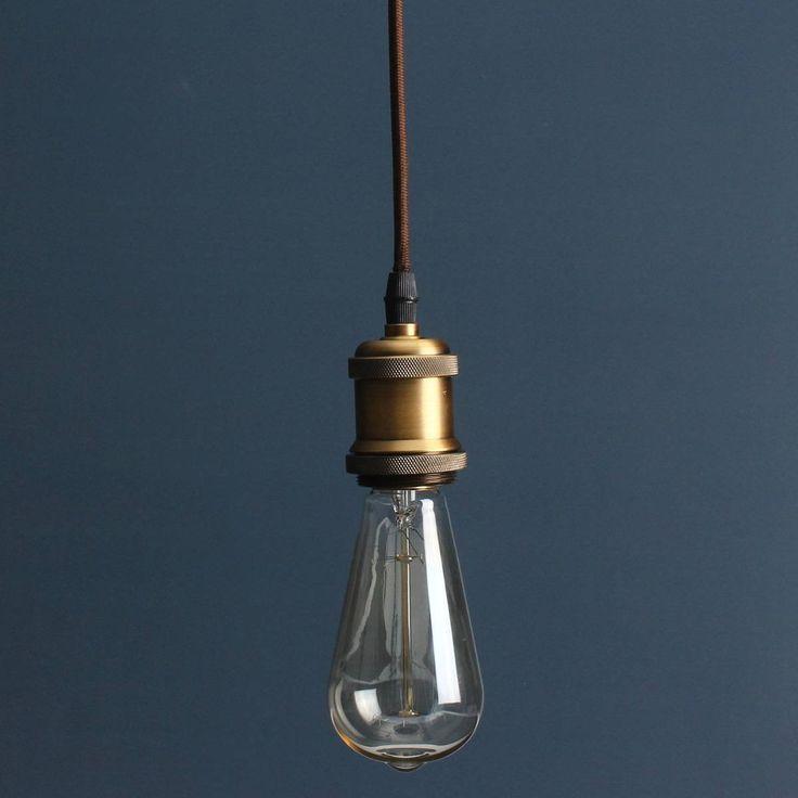 KINGSO E27 Lampenfassung Kupfer Vintage Retro Antike Edison Pendelleuchte…