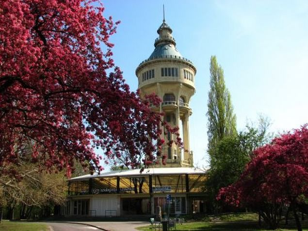 Visit the Water Tower of Margit Island in Budapest. An octagonal Water Tower of 57 m (built in Art Nouveau style in 1911, today functioning as a lookout tower and an exhibition hall.