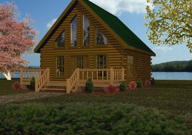 Small Log Cabin Kits & Floor Plans: Cabin Series from Battle Creek TN  Trapper style