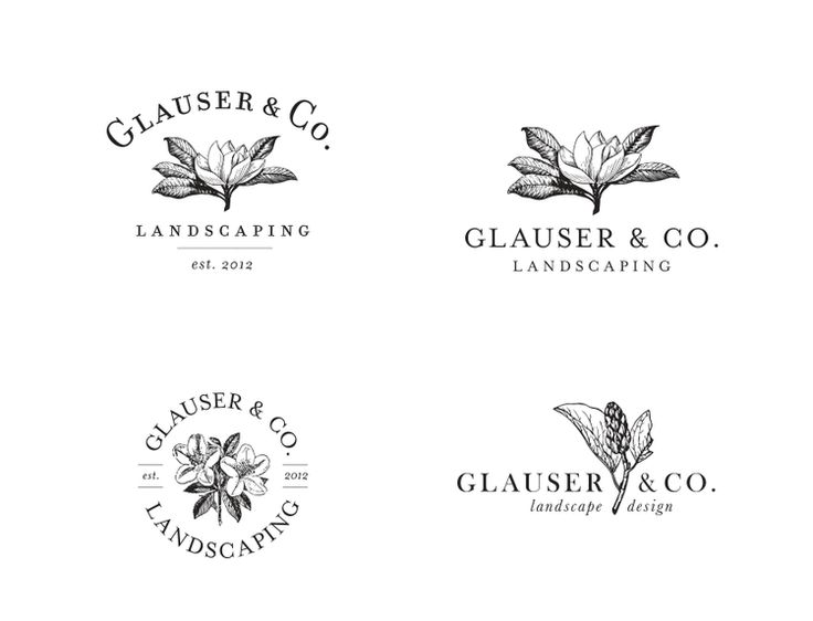 Landscaping logo design options || Jody Worthington #logo #floral #botanical