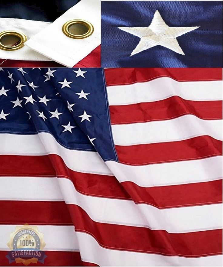 6X10 Foot Large Nylon Commercial Grade US American Flag Outdoor Flags Gift NEW #Fifi