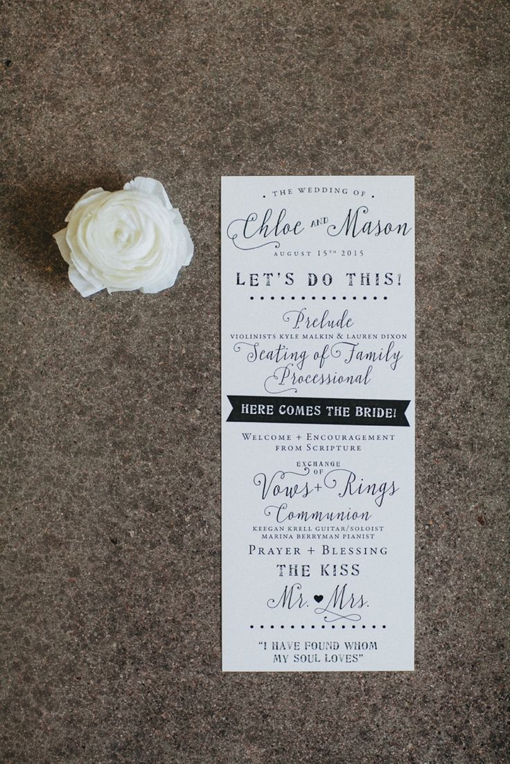 wedding invitations from michaels crafts%0A wedding ceremony program   Jay  u     Jess Photography