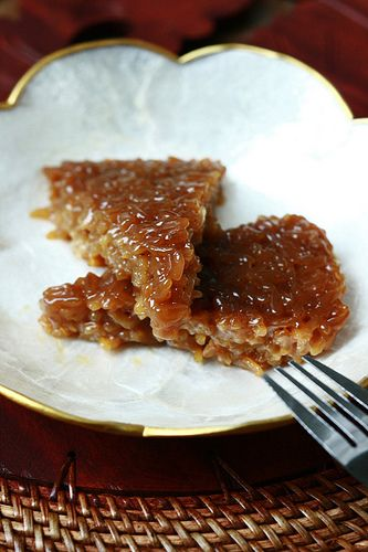 Sticky Rice Cake with Palm Sugar and Coconut Milk