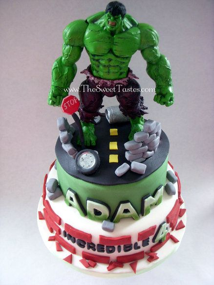 Incredible Hulk birthday cake  Cake by thesweettastes