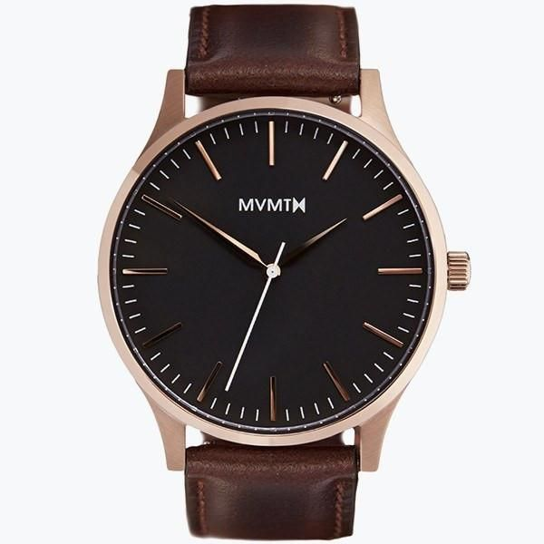 The 40 - Rose Gold/Brown Leather