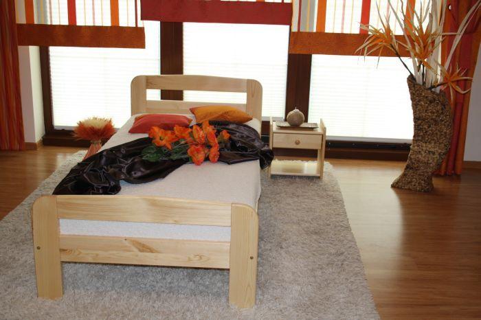 ŁÓŻKO drewniane sosnowe KLARA 90X200 od PRODUCENTA! DREWNIANE MAXI-DREW producent mebli z litego drewna :: łóżka sosnowe :: stoły :: materace :: szafy :: komody