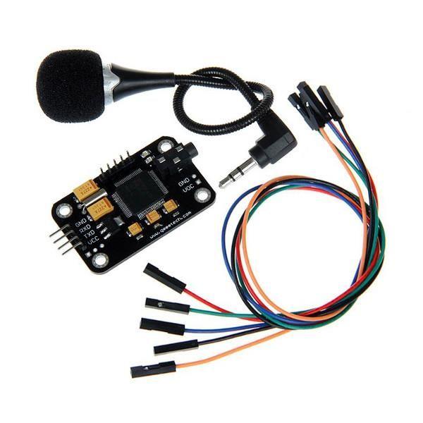 Módulo de reconhecimento de voz Geeetech® com controle de microfone Placa de voz para Arduino