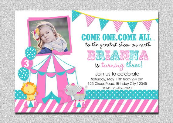 17+ ideas about Carnival Birthday Invitations on Pinterest ...