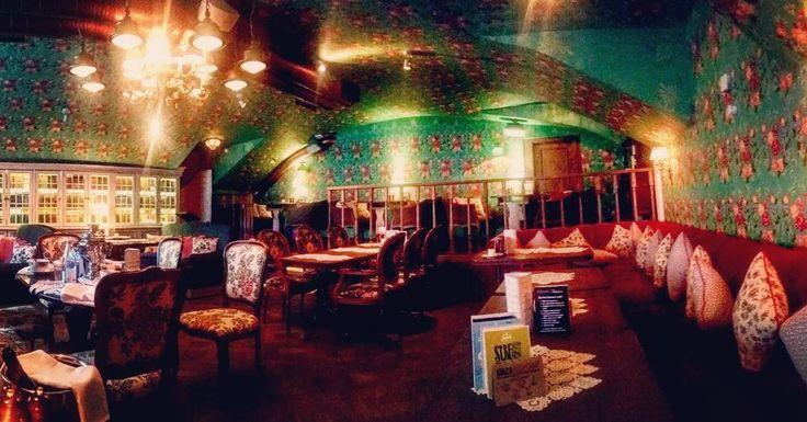 Russian cuisine in Kaťuša restaurant St. Petersburg. All wallpaintings are hand made! . #cuisine #russia #russian #restaurant #food #lights #painting #handmade #foodporn #tradicion #culture #history #travel #weekend #relax #interior #furniture #art #arte #dinner #lunch #folklore #colourful #colours #stpetersburg #vkaťušinavečeri #kaviarblinyigristoje #nazralsomsajakprasaaleparadne by branio24