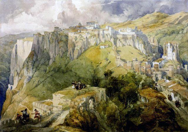 David Roberts (1796-1864), Ronda, Spain - 1834