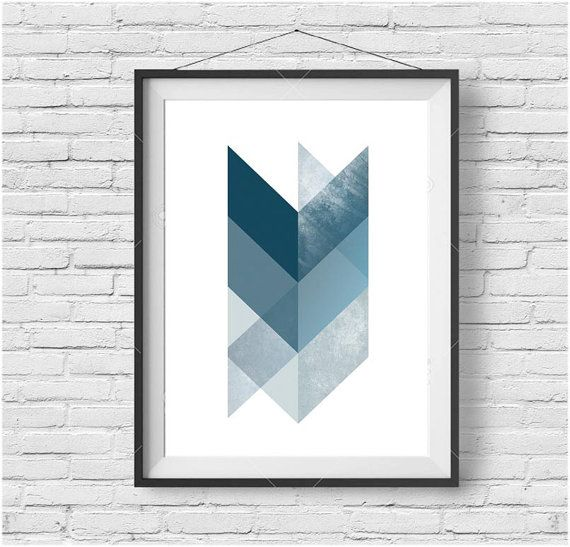 Chevron Print Chevron Art Chevron Poster by PrintAvenue on Etsy