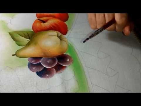 Praticidade no fazer e aprender a pintar uva com Rosa Foeger. Leveza, técnica e muito amor.......