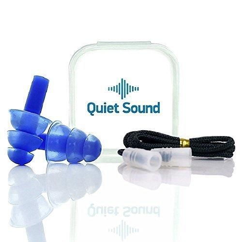 Ears Plugs Noise Reducing Hearing Protection For Sleeping Concerts Music Shooting  Construction Work Motor Sports Racing Reusable Soft Hypoallergenic Silicone Material Case Cord Earplugs (Blue)