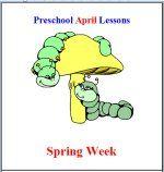 April Preschool Curriculum - Free Sample - Spring Week Theme Lesson Plans