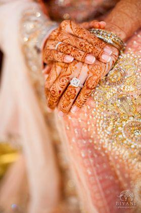 bridal henna design and wedding manicure, indian wedding