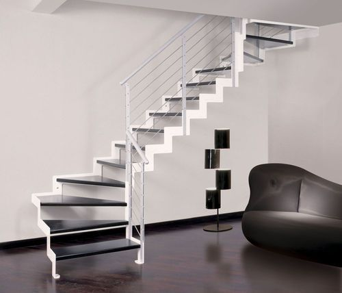 Les 25 meilleures id es de la cat gorie escalier quart tournant sur pinterest - Escalier limon lateral ...