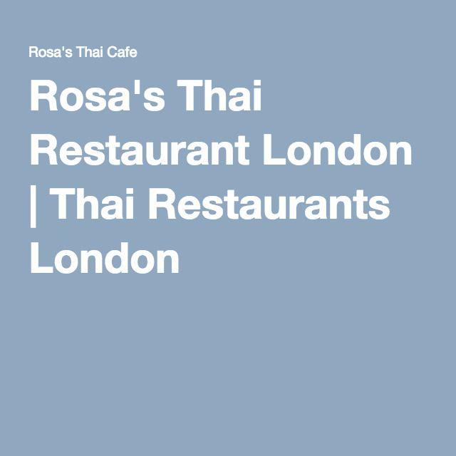 Rosa's Thai Restaurant London | Thai Restaurants London