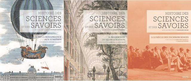 Histoire des sciences et des savoirs tomes 1 2 et 3